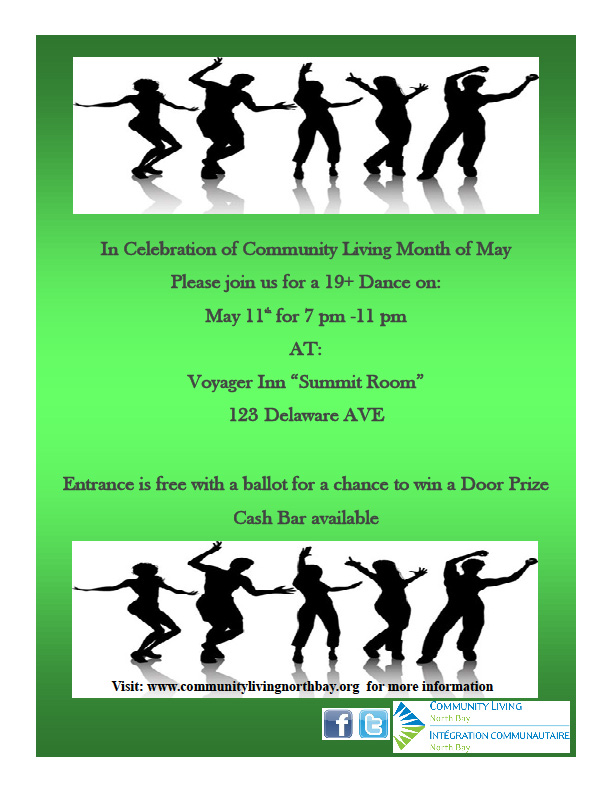 Community Living Dance Event Poster